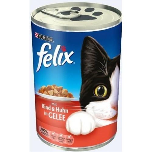 Felix Sığır Etli ve Tavuklu Kedi Konservesi 400 gr