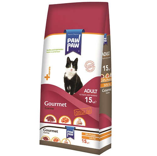 Paw Paw Gourmet Gurme Yetişkin Kedi Maması 15 Kg