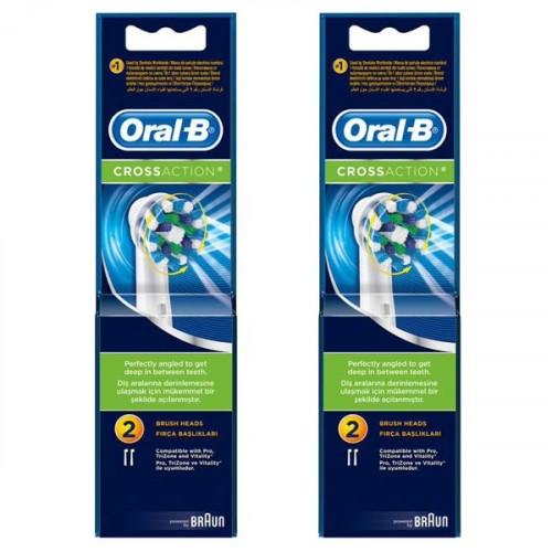 Oral-B Diş Fırçası Yedek Başlığı Cross Action 2 li x 2 Adet