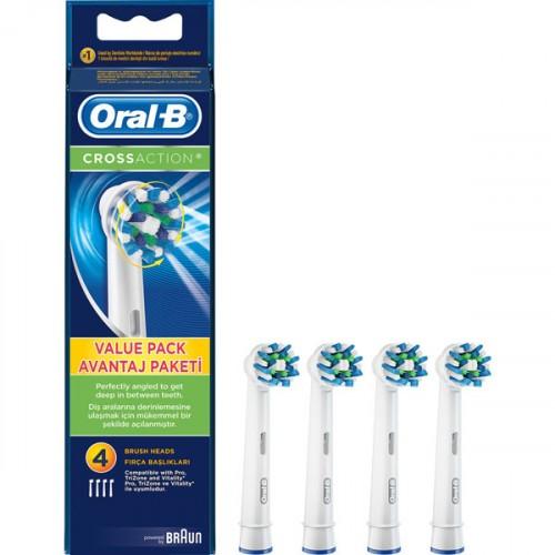 Oral-B Diş Fırçası Yedek Başlığı Cross Action 4 lü