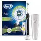Oral-B Siyah Pro 750 Şarj Edilebilir Diş Fırçası (Seyahat Kabı Hediye)