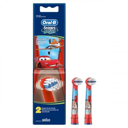 Oral-B Stages Power Diş Fırçası Yedeği 2'li Paket (THE CARS)