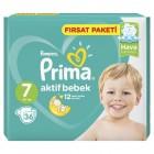 Prima Bebek Bezi Aktif Bebek 7 Beden 36 Adet XXLarge Mega Fırsat Paket