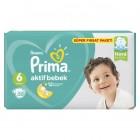 Prima Bebek Bezi Aktif Bebek 6 Beden 50 Adet Extra Large Süper Fırsat Paketi