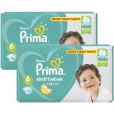 Prima Bebek Bezi Aktif Bebek 6 Beden 50 Adet Extra Large Süper Fırsat Paketi x 2 Adet