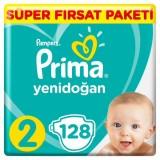 Prima Bebek Bezi Yeni Bebek 2 Beden Mini Mega Fırsat Paketi 128 Adet