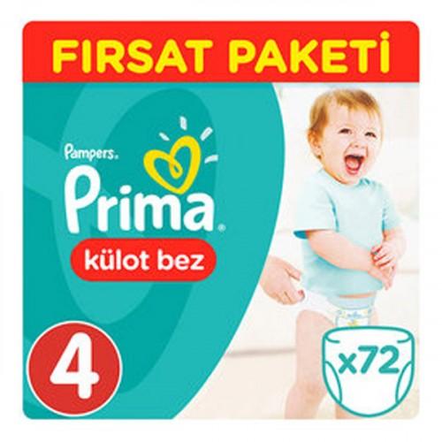 Prima Külot Bebek Bezi 4 Beden Maxi Fırsat Paketi 72 Adet