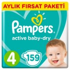 Prima Pampers Bebek Bezi Aktif Bebek Aylık Paket Maxi 4 No 159 lu