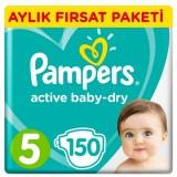 Prima Pampers Bebek Bezi Aktif Bebek Aylık Junior 5 No 150 li