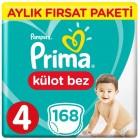 Prima Pants Külot Bebek Bezi Deneme Paketi 4 Beden 168 Adet