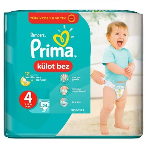 Prima Pants Külot Bebek Bezi Deneme Paketi 4 Beden 24 Adet