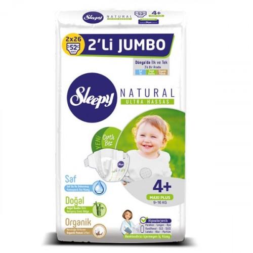 Sleepy Natural Külot Bez Maxi Plus 4+ No 26 lı x 2 Adet