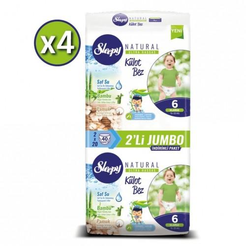Sleepy Natural Külot Bez X Large 6 No 40 lı x 4 Adet
